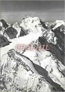 Moderne Karte Oisans Les Ecrins face nord et le Glacier Blanc