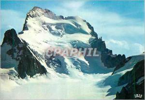Moderne Karte Hautes Alpes La face nord des Ecrins le dome et le col des Ecrins