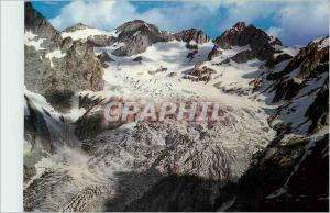 Moderne Karte Massif de l'Oisans (Htes Alpes) Le Glacier Blanc