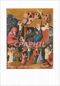 Moderne Karte Die Geburt Christi um 1400 Oberdeutscher Meister