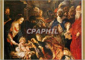 Moderne Karte Museo del Prado 1638 Rubens 1577 1640 L'Adoration des Rois Mages Detail