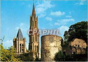 Moderne Karte Le Valois Senlis (Oise) Les Tours de la Cathedrale et la Fleche de la Tour
