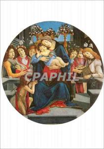 Moderne Karte Roma Sandro Botticelli La Vierge avec l'Enfant Jesus et des Anges
