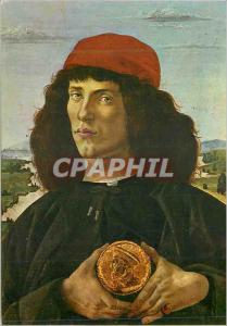 Moderne Karte Firenze Galerie Uffizi L'Homme la Medaille Portrait d'Homme