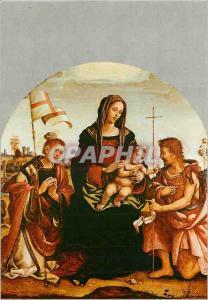 Moderne Karte Prato Galleria Comunale Vierge avec l'Enfant et Saints