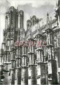 Moderne Karte Reims (Marne) la Cathedrale Notre Dame (XIIIe) Facade et Tour Sud