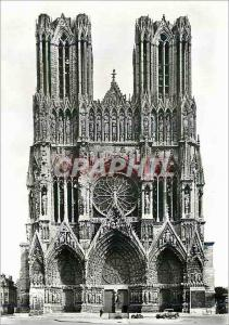 Moderne Karte Reims (Marne) la Cathedrale Notre Dame (XIIIe) Facade Occidentale
