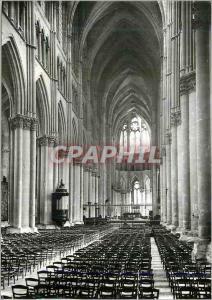 Moderne Karte Reims (Marne) la Cathedrale Notre Dame (XIIIe s) la Nef Vue du Grand Portail