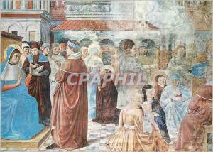 Moderne Karte Gimignano Augustin Debat avec l'Eveque Ambroise