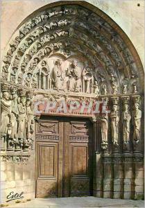 Moderne Karte Le Valois Senlis (Oise) Le Grand Portail de la Cathedrale (XIIe S)