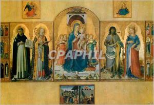 Moderne Karte Perugia Galleria Nazionale Notre Dame sur le Trone et Saints