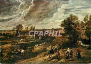 Moderne Karte Firenze Galleria Pitti Rubens Retour du Paysans du Travail