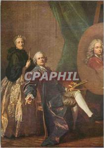 Moderne Karte Palais de Versailles (Ecole Francaise) L M Van Loo L'Artiste Faisant le Portrait de son Pere