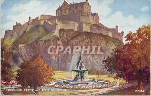 Ansichtskarte AK Edinburgh Castle and Ross Fontain