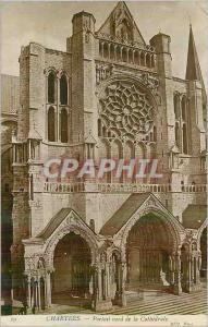 Moderne Karte Chartres Portail Nord de la Cathedrale