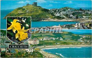 Moderne Karte Sea Front and Castle Criccieth from the Castle