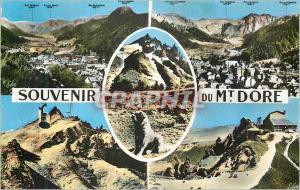 Moderne Karte Le Mont Dore de G a D Vue generale Chien