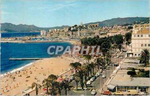 Moderne Karte Cannes AM Vue d ensemble La Croisette Le Port et le Suquet