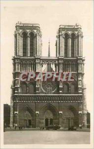 Moderne Karte Notre Beau Paris Notre Dame facade Notre Dame church