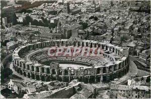 Moderne Karte Arles B du R Vue aerienne Ensemble des Arenes