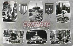 Moderne Karte Aix en Provence Bouches du Rhone Souvenir