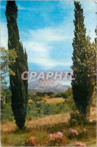 Moderne Karte Aix en Provence Bouches du Rhone Montagne Saint Victoire
