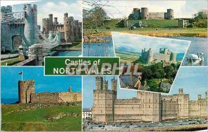 Moderne Karte Castles of North Wales Conway Castle Rhuddlan Castle Harlech Castle