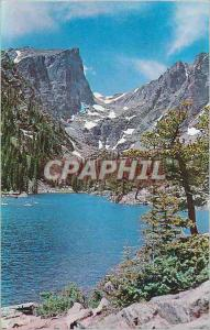 Moderne Karte Picturesque dream lake and Hallets Peak in Rocky Mountain National Park