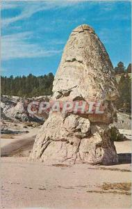 Moderne Karte Liberty Cap Yellowstone National Park