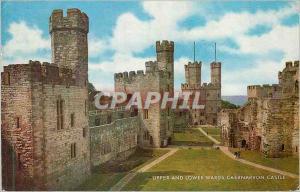 Moderne Karte Upper and Lower wards Caernarvon Castle