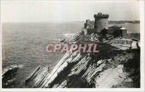 Moderne Karte St Jean de Luz Le Fort de Soccoa et les falaises a maree basse