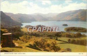 Moderne Karte Derwentwater from Castle Head