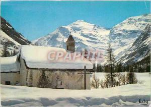 Moderne Karte Images de chez nous en Hiver Chapelle de Montagne sous la Neige