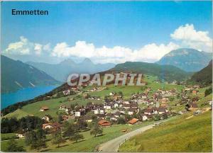 Moderne Karte Emmetten (NW) mit Vierwaldstattersee Mythen und Fronalpstock