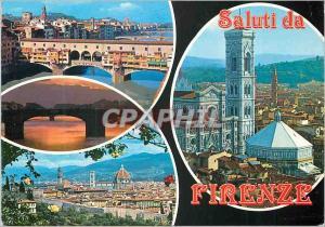 Moderne Karte Saluti da Firenze