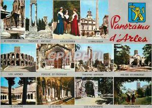Moderne Karte Panorama d'Arles Folklore