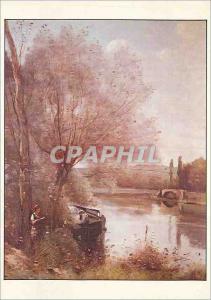Moderne Karte Reims Musee des Beaux Arts La Liseuse sur la Rive Boisee Corot Jean Baptiste Camille
