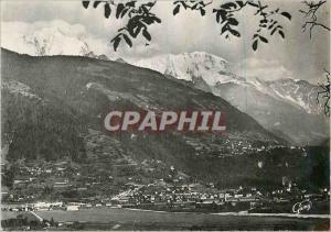 Moderne Karte St Gervais les Bains Le Fayet Hte Savoie Vue Generale et la Chaine du Mont Blanc