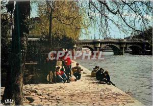 Moderne Karte Paris Groupe de Beatniks pres du Pont Neuf
