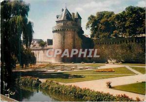 Moderne Karte Vannes (Morbihan) La Bretagne en Couleurs La Tour du Connetable et les Remparts