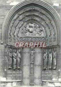 Moderne Karte L'Abbaye de Saint Denis Portail Nord Le Decollation de Saint Denis
