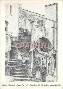 Moderne Karte Saint Tropez a la Belle Epoque L'Escalier de la Place aux Herbes