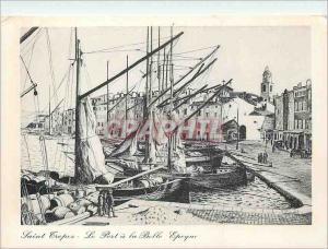 Moderne Karte Saint Tropez a la Belle Epoque Le Port de St Tropez Dessin de Maurice Jaudel