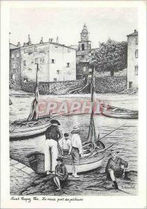 Moderne Karte Saint Tropez a la Belle Epoque (Var) Le Vieux Port des Pecheurs