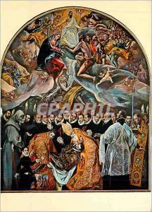 Moderne Karte Toledo St Thome L'Enterrement du Compte d'Orgaz (Greco)
