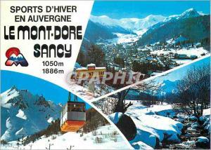 Moderne Karte Le mont Dore Sancy Sports d'Hiver en Auvergne