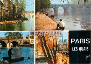 Moderne Karte Paris Couleurs et Lumiere de France Les Quais Peche Pecheur