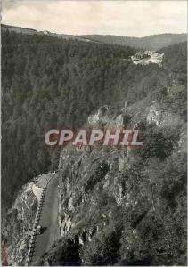 Moderne Karte Route et Col de la Schlucht Les Vosges Pittoreques