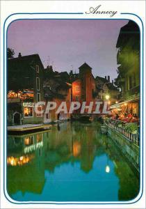 Moderne Karte Annecy Haute Savoie En flanant dans le Vieil Annecy au Crepuscule