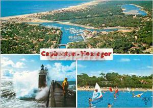 Moderne Karte Capbreton Hossegor (Landes) Stations Balneaires de la Cote Landaise